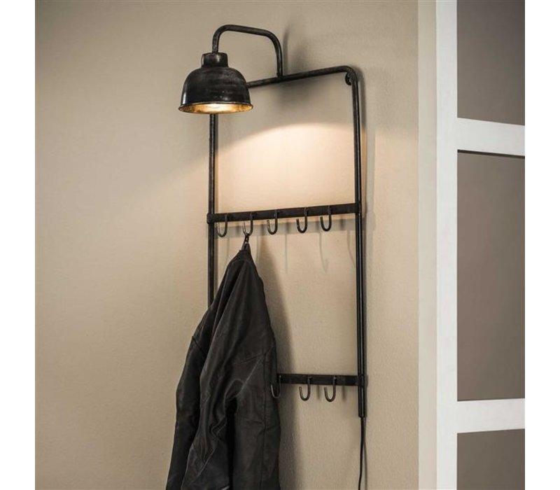 Kapstok met lamp