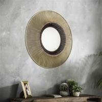 Spiegel rond Mona goud 80 cm