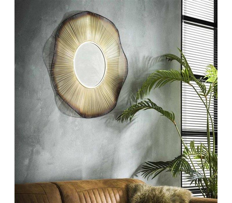 Spiegel rond Bina goud 80 cm