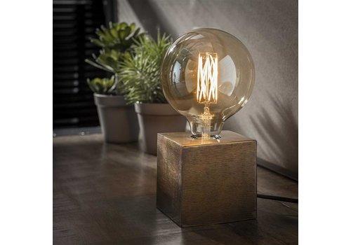Industriele tafellamp Blok - Brons antiek