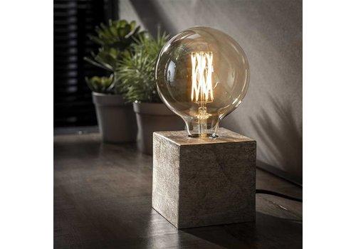 Industriele tafellamp Blok -Antiek Nikkel