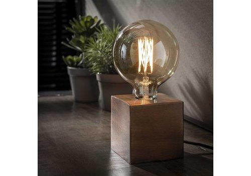 Industriele tafellamp Blok -Antiek koper finish