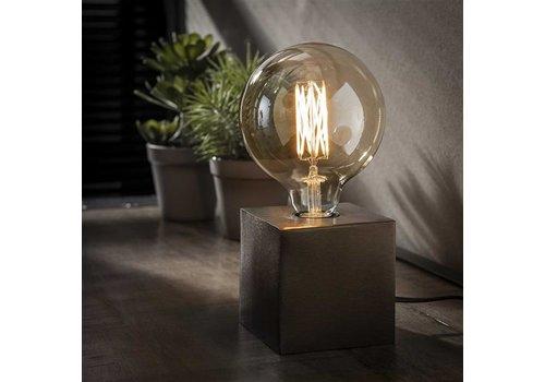 Industriele tafellamp Blok - zwart