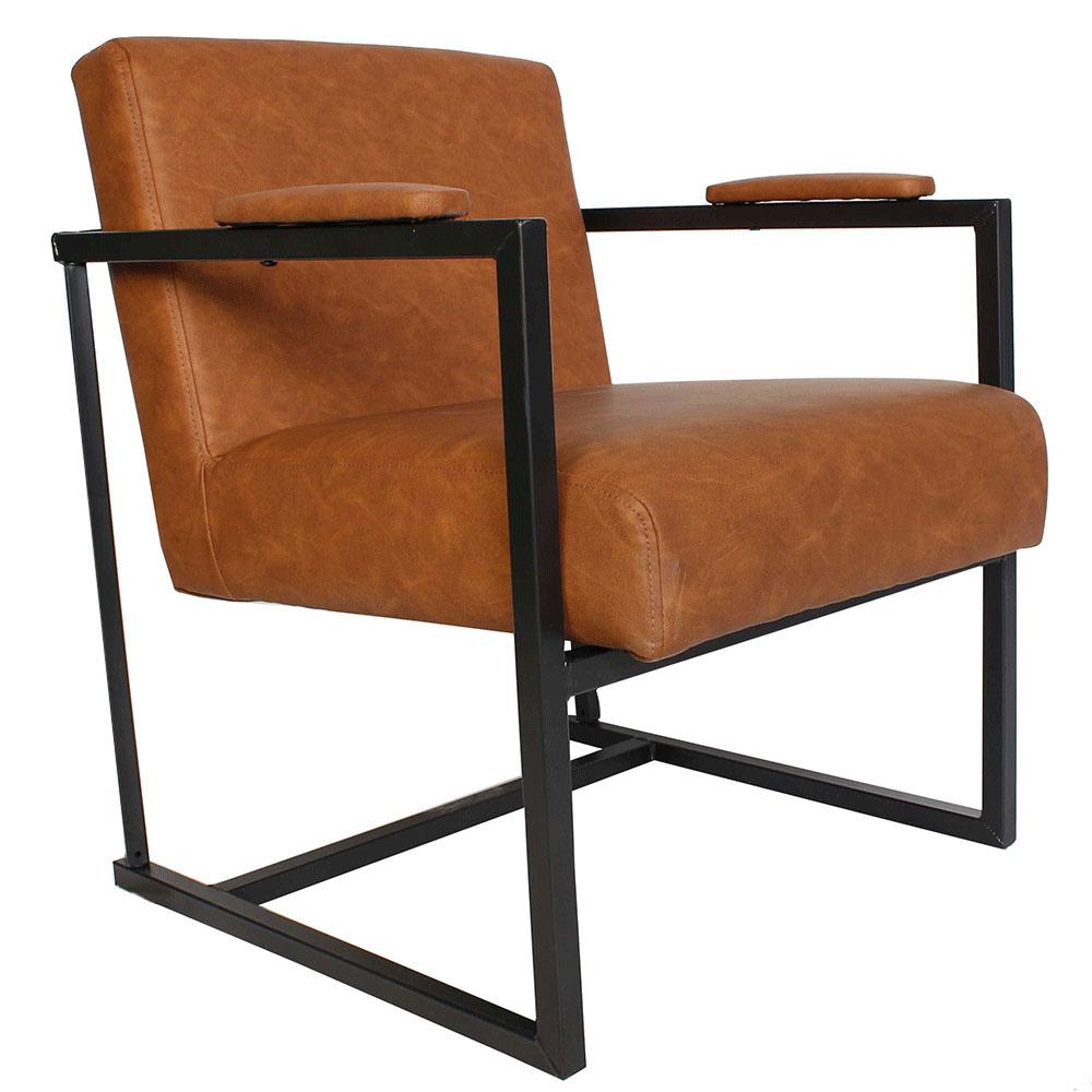 Moderne Comfortabele Fauteuil.Industriele Moderne Fauteuil Holden Cognac