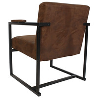 Industriële moderne fauteuil Holden vintage bruin