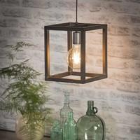Industriële hanglamp vierkant 25x25