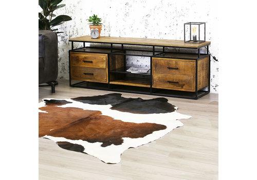 Industriele TV-meubel Austin - mangohout