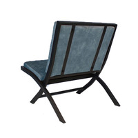Design fauteuil Madrid velvet Luxury blauw