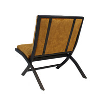 Design fauteuil Madrid velvet Luxury okergeel