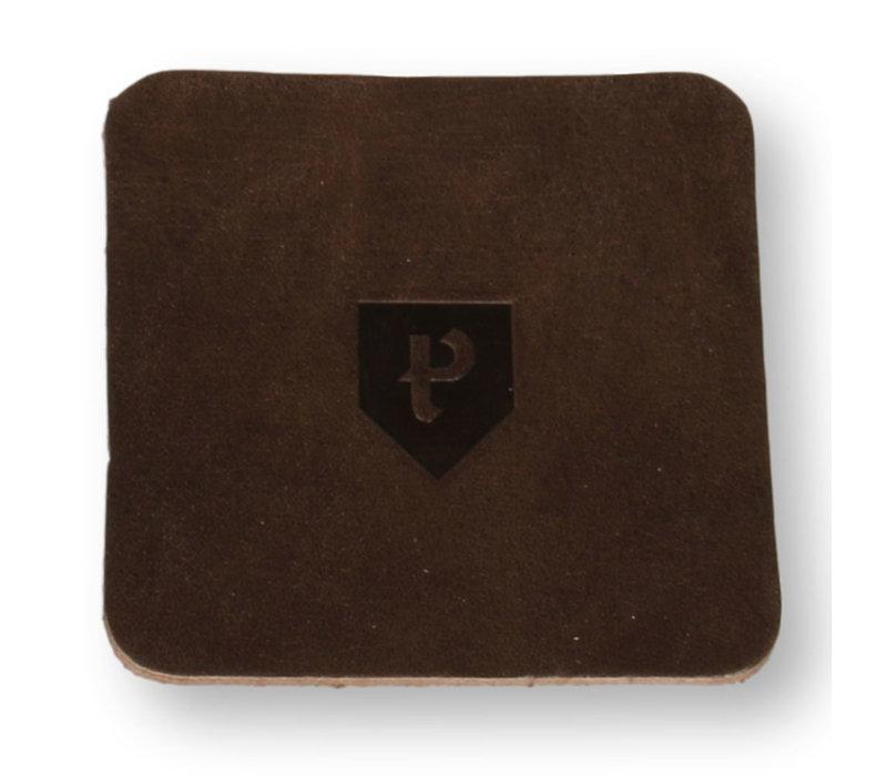 Leren onderzetters Pearson 6 stuks vierkant bruin
