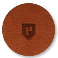 Leren onderzetters Pearson 6 stuks rond cognac