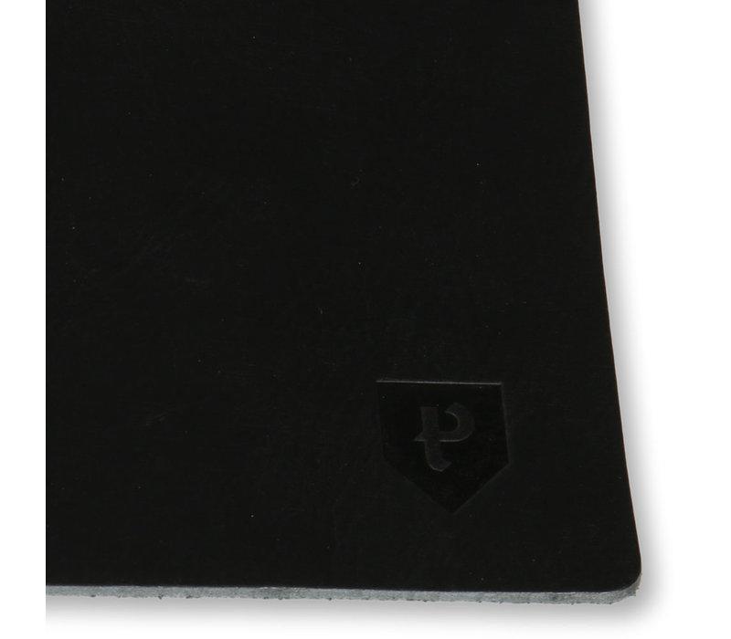 Leren placemat set van 2 Pearson zwart