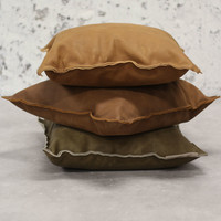 Leren sierkussen Pearson bruin 45x45 cm