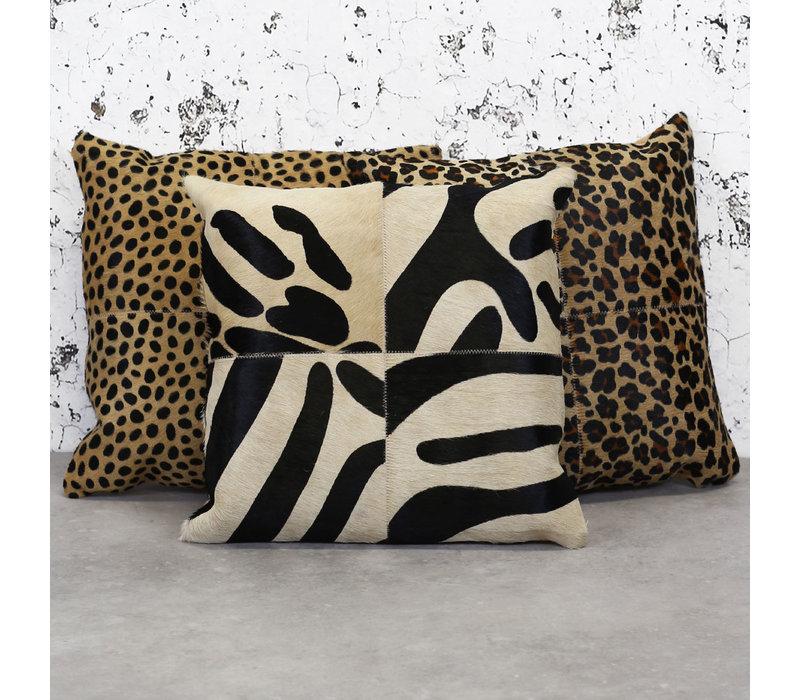 Leren sierkussen safari Zebra Pearson 45x45 cm