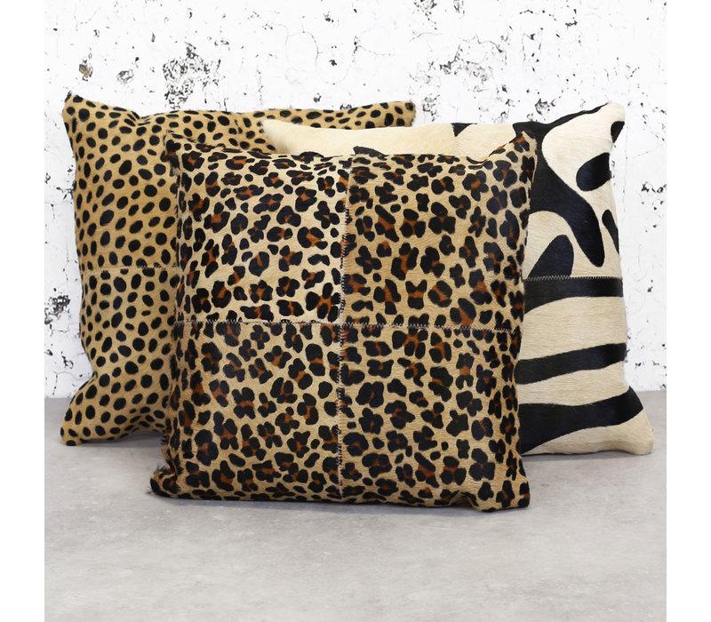 Leren sierkussen safari Jaguar Pearson 45x45 cm
