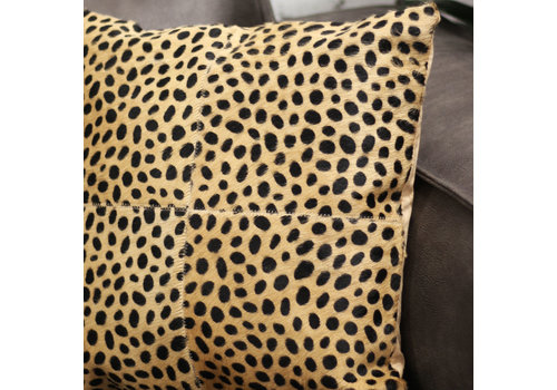 Leren sierkussen safari Cheetah Pearson 45x45 cm