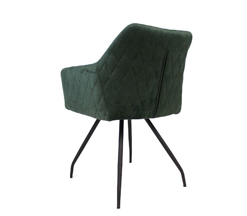 Moderne eetkamerstoel Nelly Velvet groen