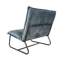 Moderne fauteuil Boris velvet Luxury blauw