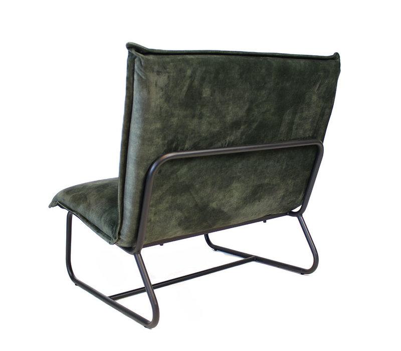 Moderne fauteuil Boris velvet Luxury groen