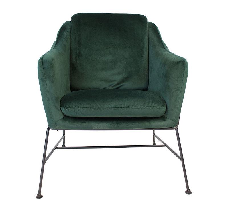 Moderne fauteuil Stella Velvet groen