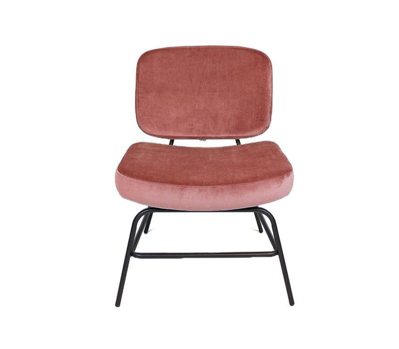 Moderne fauteuil Elena Velvet rose