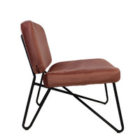Moderne fauteuil Jill Velvet rose