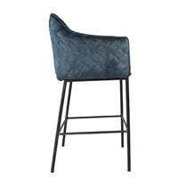 Moderne velvet barkruk Jaxon blauw 82 cm