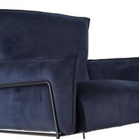 Moderne velvet fauteuil Lasse navy blue