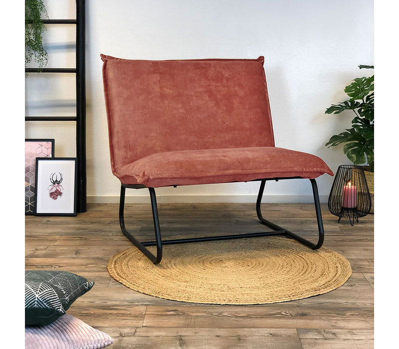 Moderne fauteuil Boris velvet Luxury roze