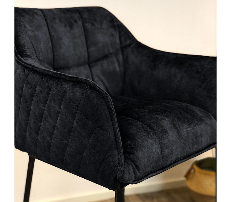 Moderne velvet barkruk Jaxon antraciet 82 cm