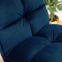 Moderne velvet fauteuil Malaga donkerblauw