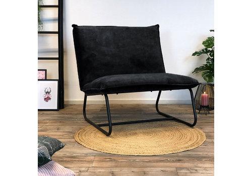 Bronx71 Moderne fauteuil Boris velvet Luxury antraciet