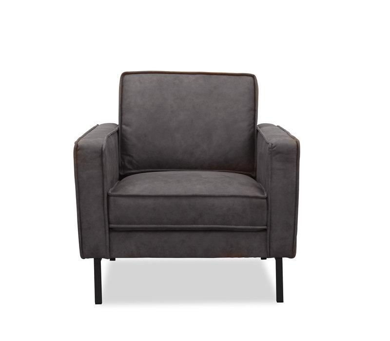 Industriële fauteuil microvezel Brett antraciet