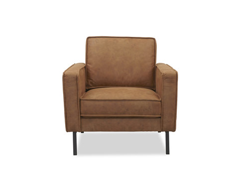 Industriële fauteuil microvezel Brett cognac