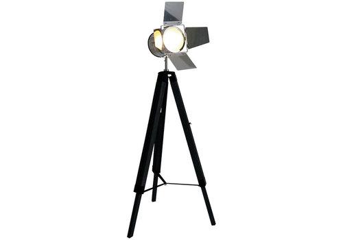 Industriële vloerlamp met spotlight Armin