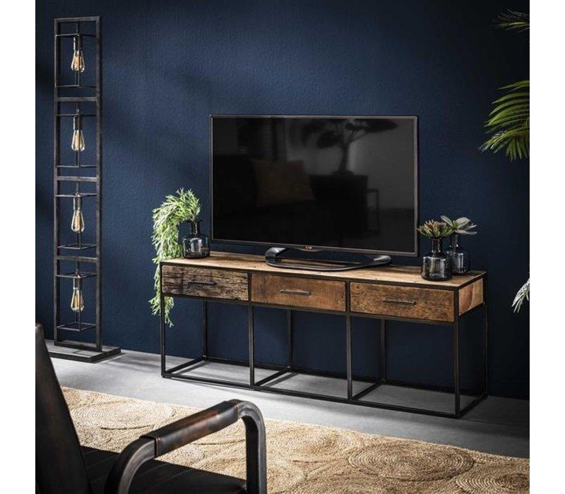 Industrieel houten tv-meubel Liam 3 lades