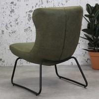 Industriële fauteuil Max groen