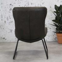 Industriële fauteuil Max antraciet