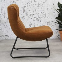 Industriële fauteuil Max cognac