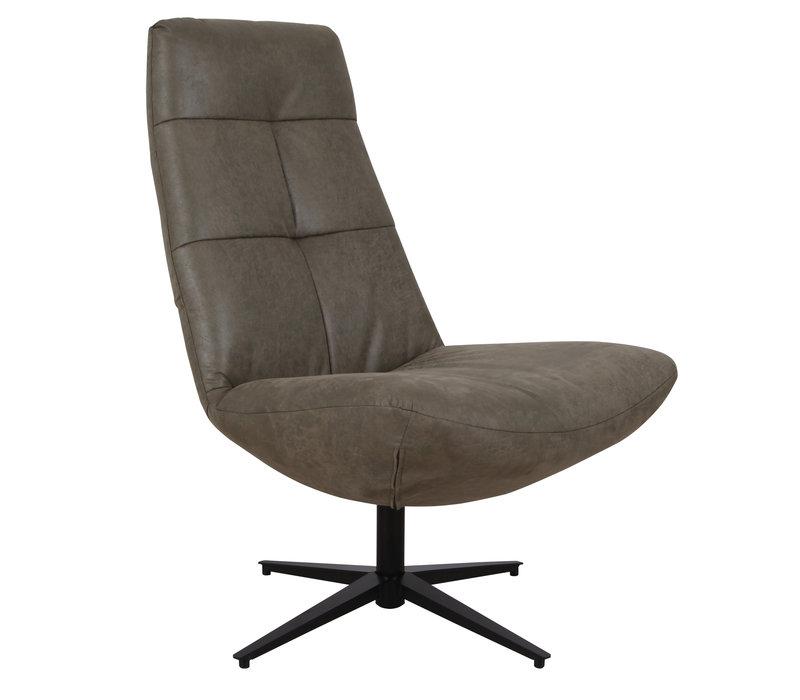 Industriële draaibare fauteuil groen Dion - eco leer