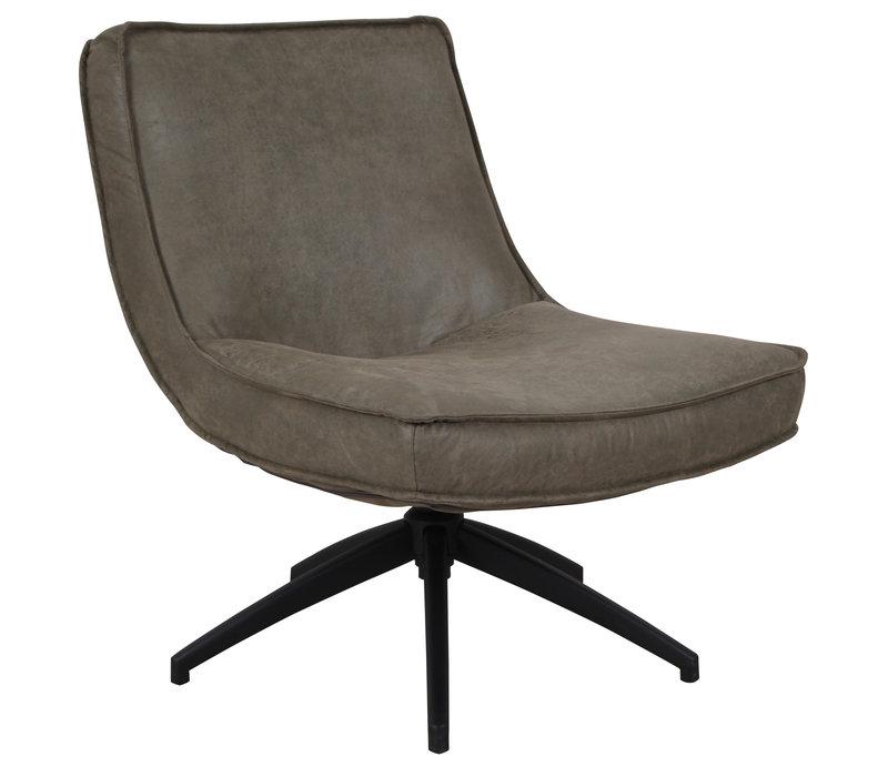 Industriële draaibare fauteuil groen Tommy eco leer