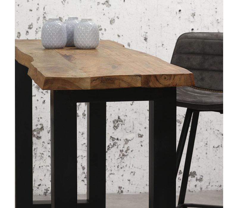 Industriële bartafel Bruce 150x50 cm acaciahout