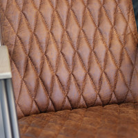 Industriële fauteuil Ivy eco-leer cognac