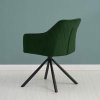 Moderne eetkamerstoel Furtado draaibaar velvet groen