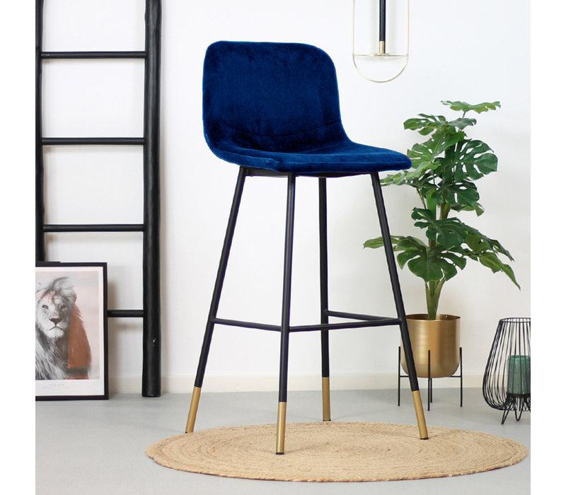 Velvet barkruk Mikky blauw 68 -79 cm