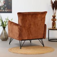 Moderne fauteuil Mika luxury velvet roest