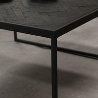 Blackster Salontafel Zwart Industrieel Teakhout 80x80 cm