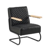 Industriële fauteuil Lars zwart