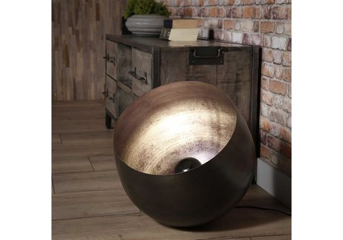 Industriële tafellamp zwart nickel Basel 50 cm