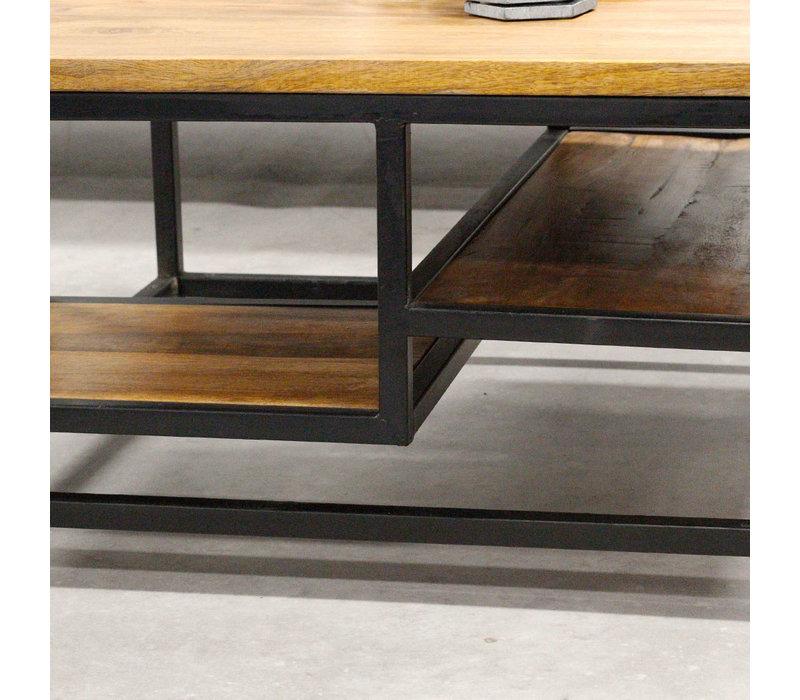 Salontafel Industrieel Livia Mangohout 110x60 cm